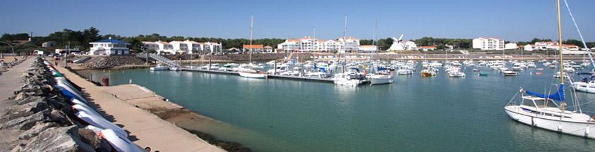 le port de Jard sur mer près du camping