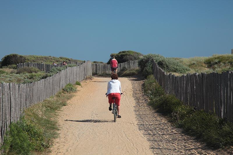 les pistes cyclables au départ de Jard sur Mer