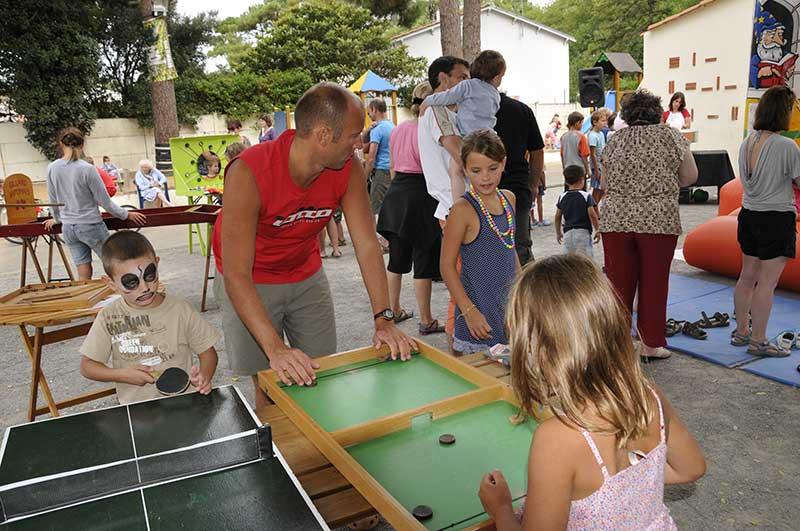 Jeux pour les enfants au camping en Vendée