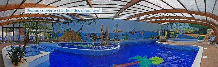Camping 4 étoiles avec piscine couverte en Vendée