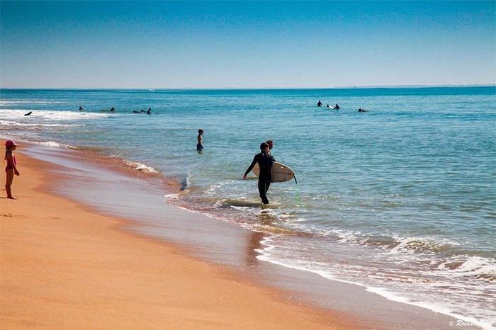 la plage de Jard sur Mer