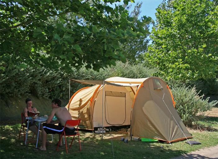 emplacement camping en bord de l'atlantique