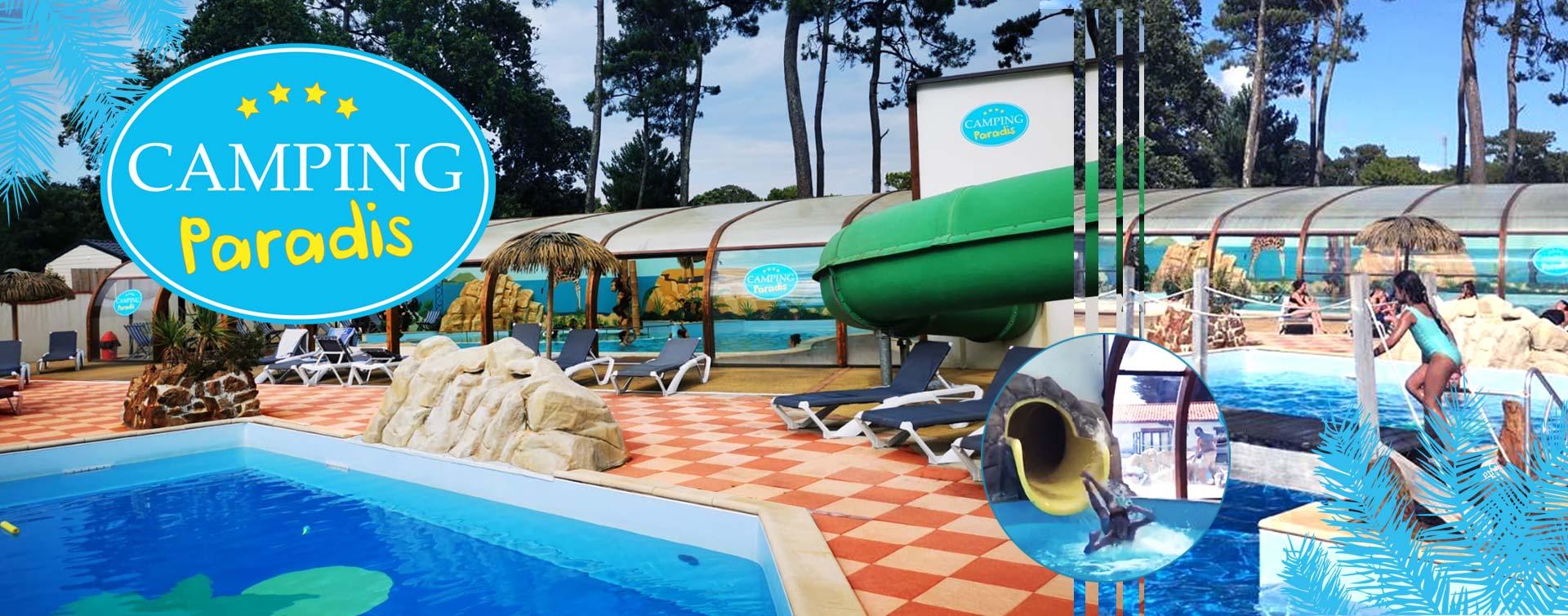 Espace aquatique du Camping Paradis en Vendée